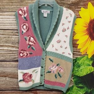 Gina Peters button front knitted sweater vest